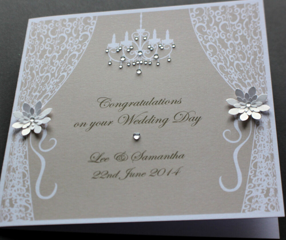 Handmade Personalised VINTAGE STYLE Congratulations