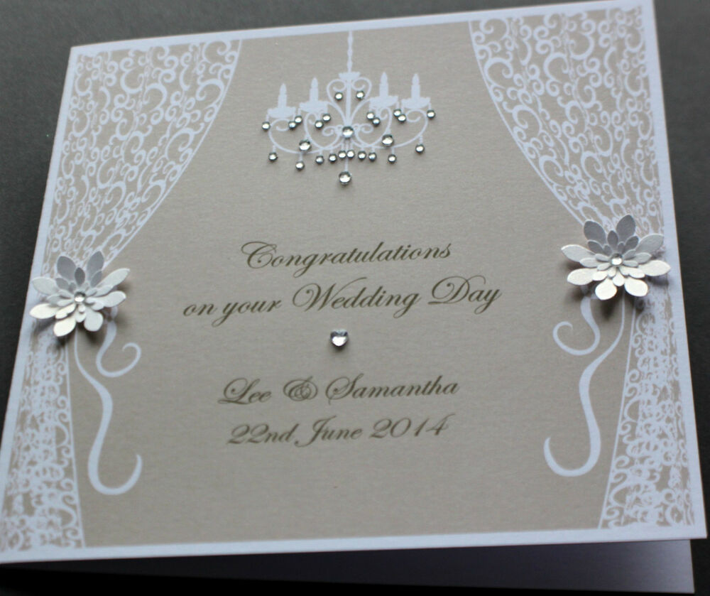 Wedding Cards: Handmade Personalised VINTAGE STYLE Congratulations
