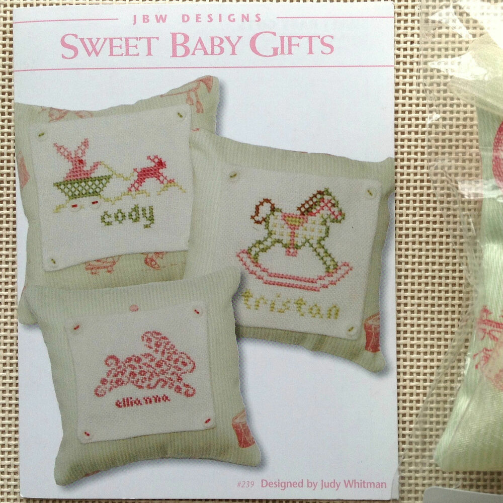 Cross stitch chart pillow sweet baby gifts by jbw