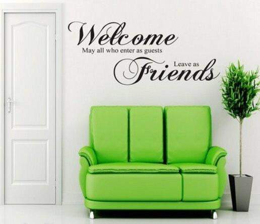 Wall Sticker Office Welcome Guest Friend Home Decor Room