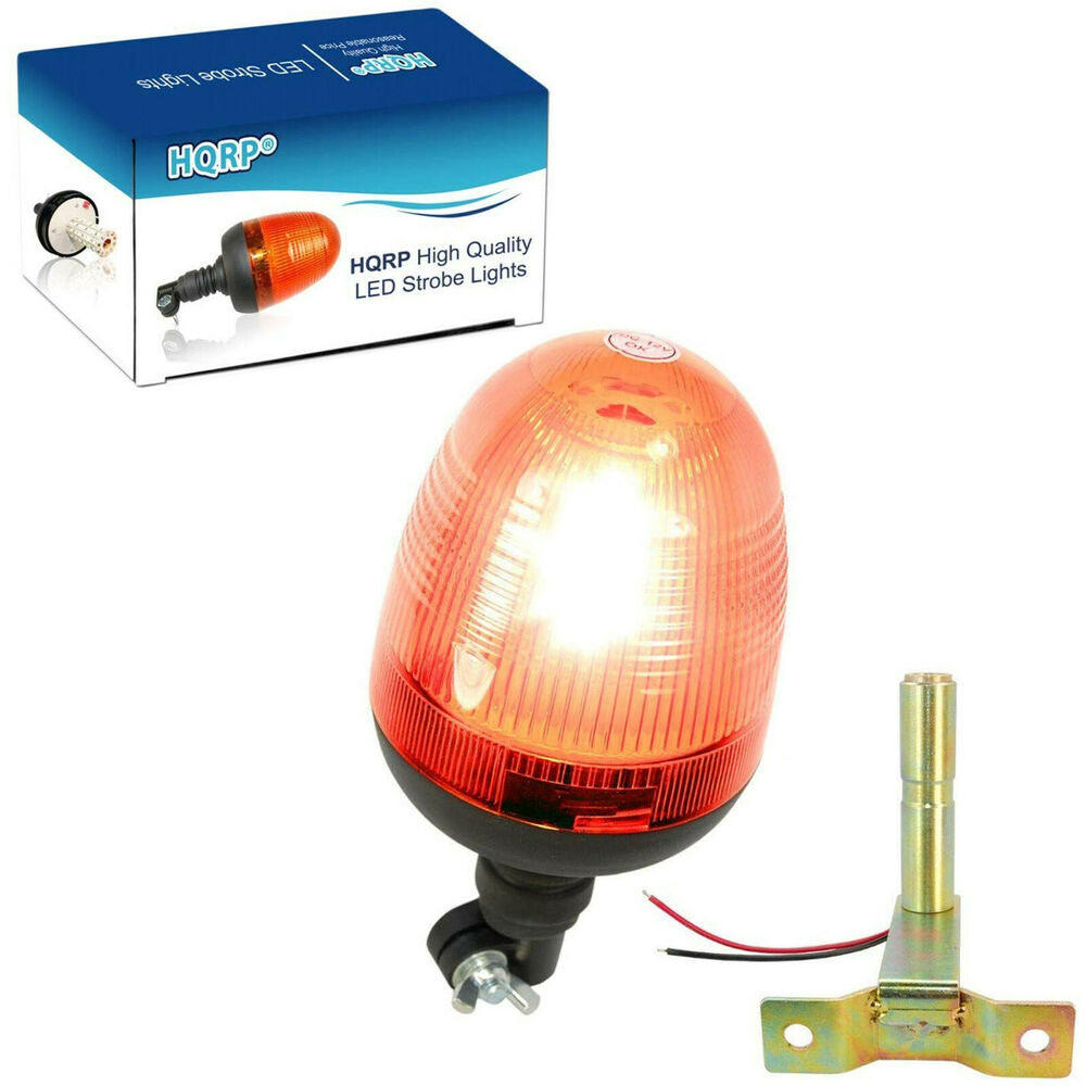 HQRP LED Amber Emergency Flash Strobe Warning Light Beacon