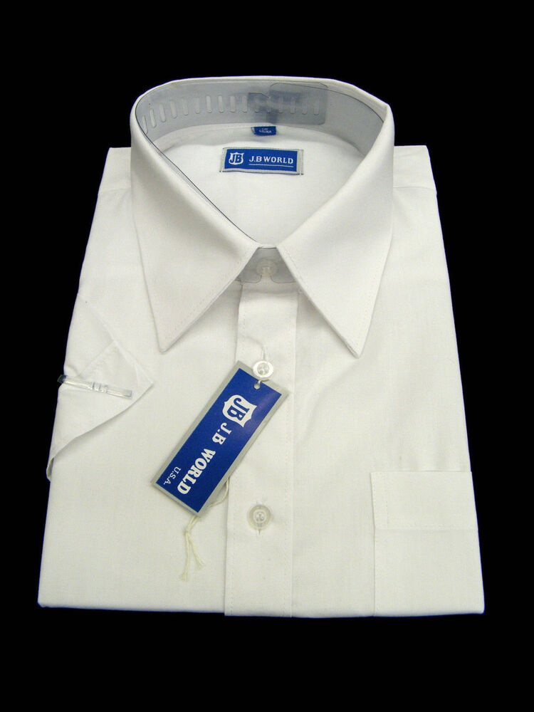 New boy 39 s white short sleeve dress shirt all sizes 4 20 for White non iron dress shirts