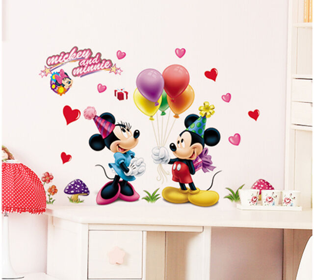 mickey and minnie removable wall sticker nursery room baby mickey wall decal minnie mouse vinyl stickers by