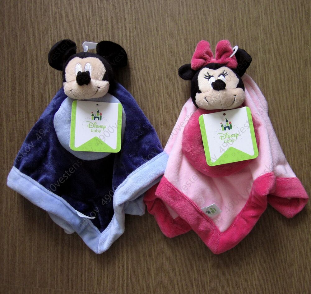 Disney Baby Mickey Or Minnie Mouse Security Blanket Ring