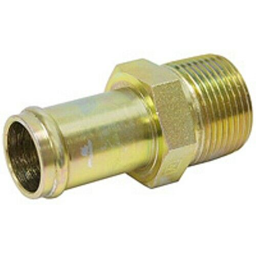 Quot npt hosebarb to male hydraulic adapter fitting