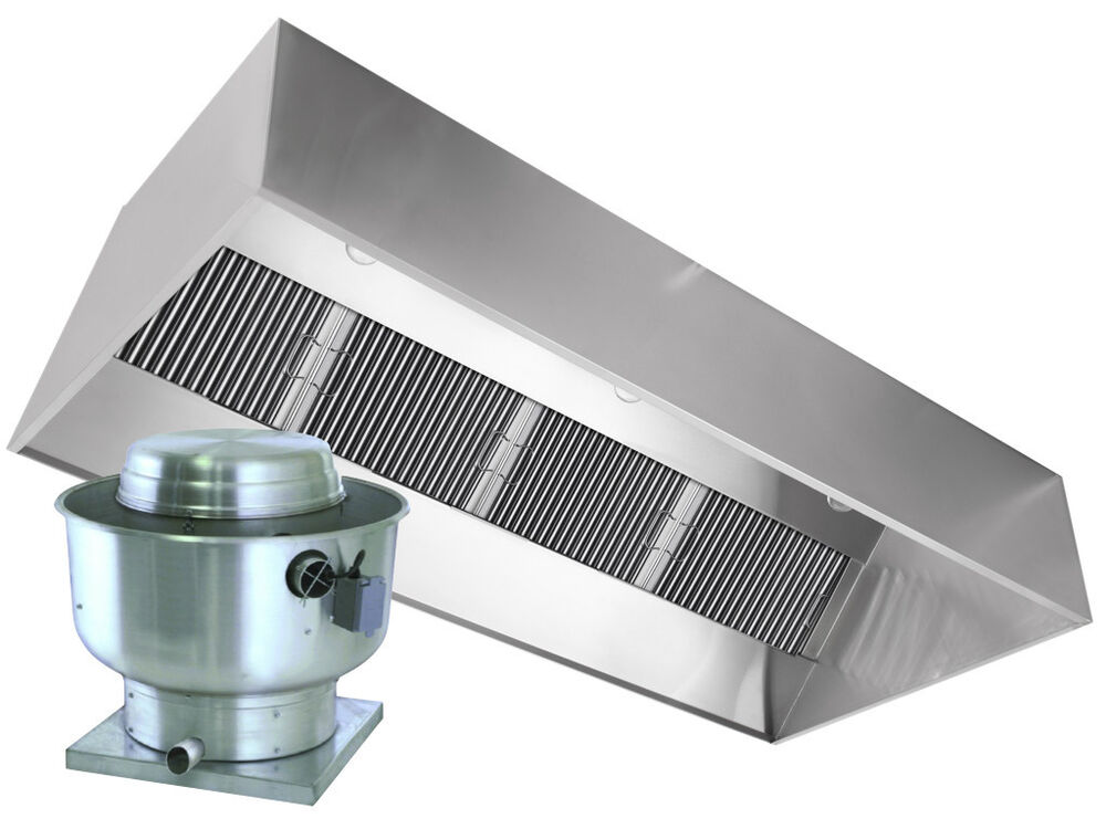 Restaurant hood with exhaust fan 4ft exhaust only vent for 4 kitchen exhaust fan