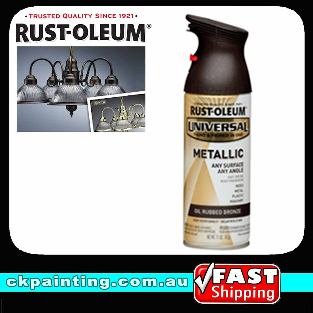 universal all purpose metallic spray paint oil rubbed bronze ebay. Black Bedroom Furniture Sets. Home Design Ideas