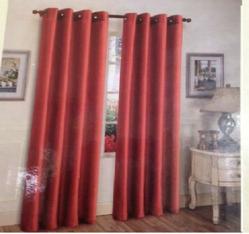 Faux Silk Window Treatments Curtains Drape Grommets 63 84