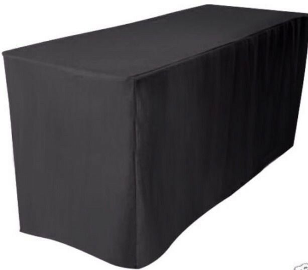 8 Ft Fitted Polyester Table Cover Wedding Banquet Event