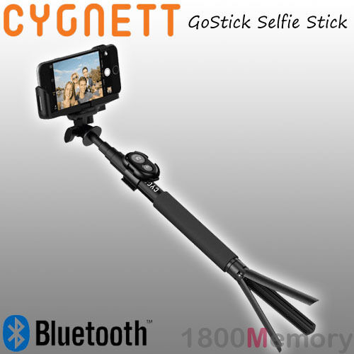 cygnett gostick bluetooth camera selfie stick for gopro apple iphone samsung. Black Bedroom Furniture Sets. Home Design Ideas