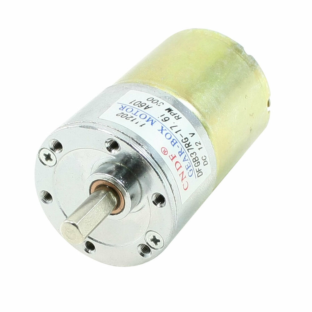 Dc 12v 300rpm 37mm Dia Electric Speed Reducing Mini