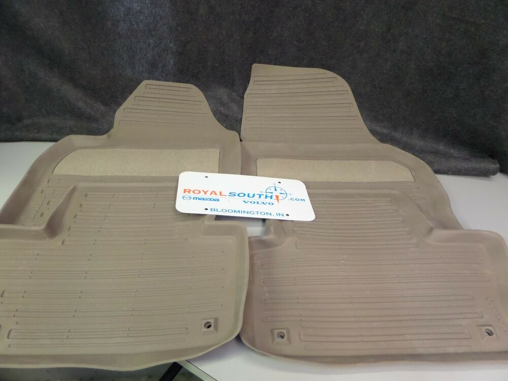 Genuine Volvo Xc60 Mocca Brown All Weather Floor Mats Oe