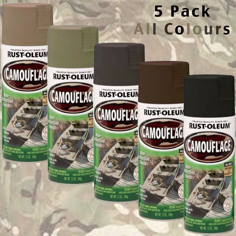 camouflage spray paint cans 5pk hunting combat rust oleum camo paint. Black Bedroom Furniture Sets. Home Design Ideas