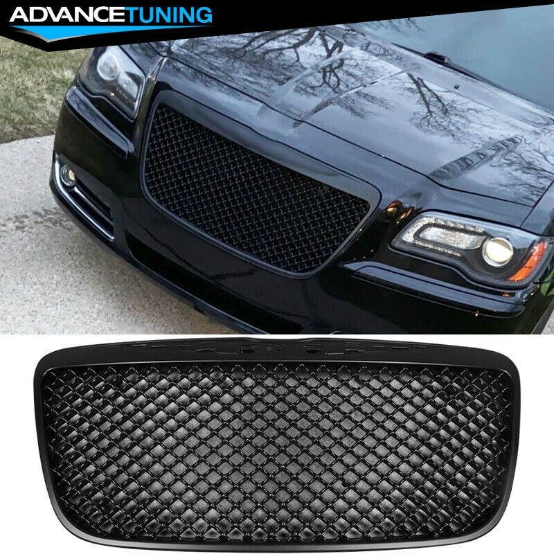 11-14 Chrysler 300 300C B-Style Front Mesh Grill Grille Black