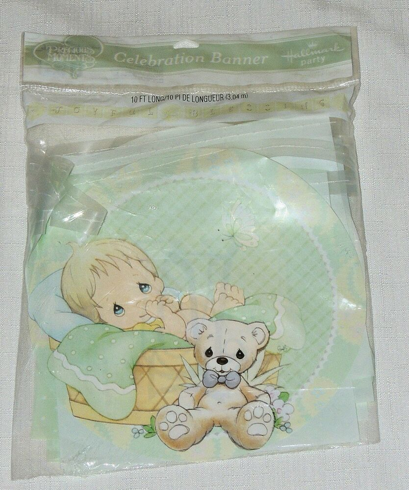 Precious Moments Baby Shower Party Supplies: ~PRECIOUS MOMENTS~ BABY BOY 1- JOYFULL BLESSING BANNER 10