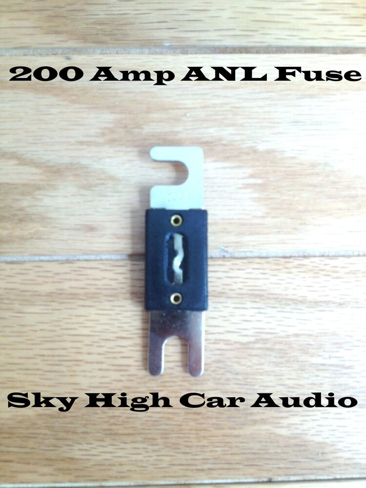 200 Amp Anl Fuse By Sky High Car Audio Inline Fuse For Car Audio