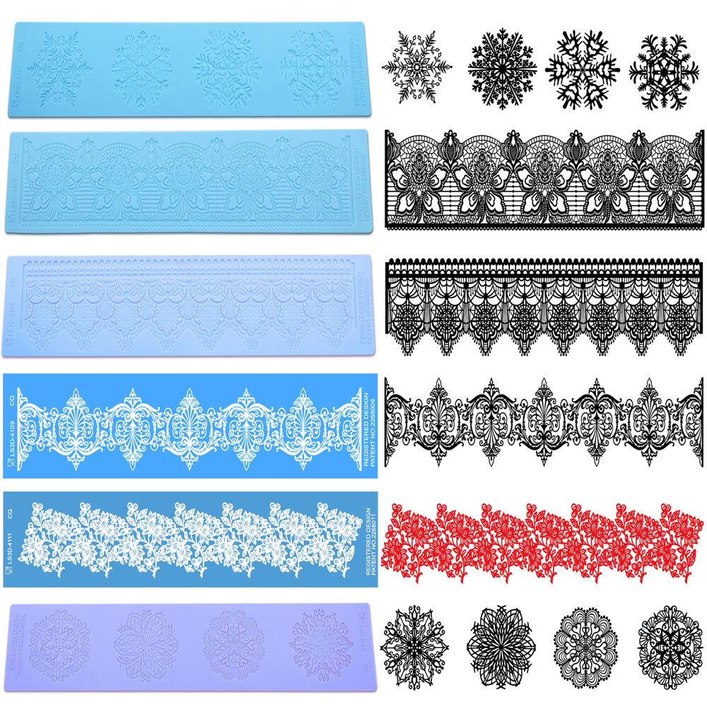 3d Silicone Cake Decorating Lace Icing Impression Mat For
