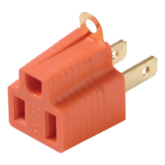 Eagle Grounding Adapter 2 Wire To 3 Wire Prong Polarized