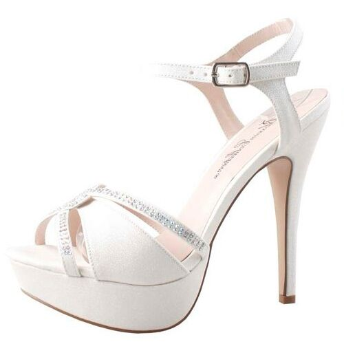 Wedding Shoes Australia: Womens White Platform Heels Bridal Wedding Sandals Dress
