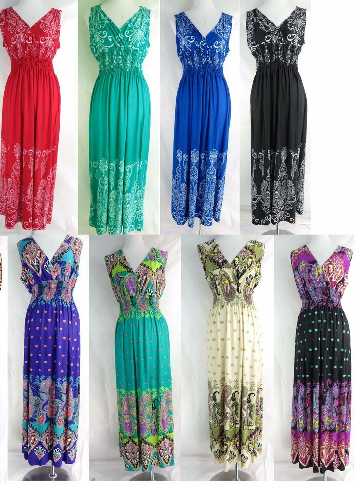 US SELLER-6 long dress maxi sundress Cheap bulk lot ...
