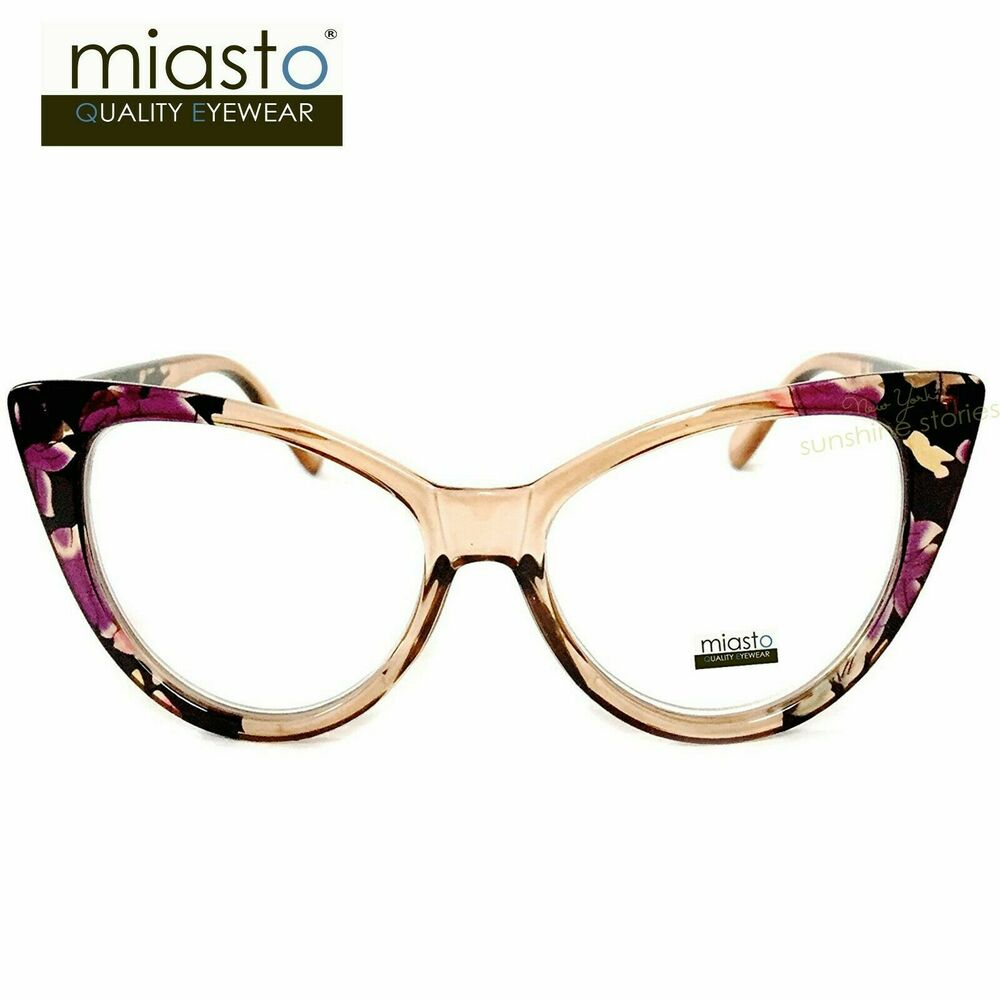 Large Framed Cat Eye Reading Glasses : NWTUSD39.99 MIASTO WOMENS VINTAGE BIG CAT EYE SEXY READER ...