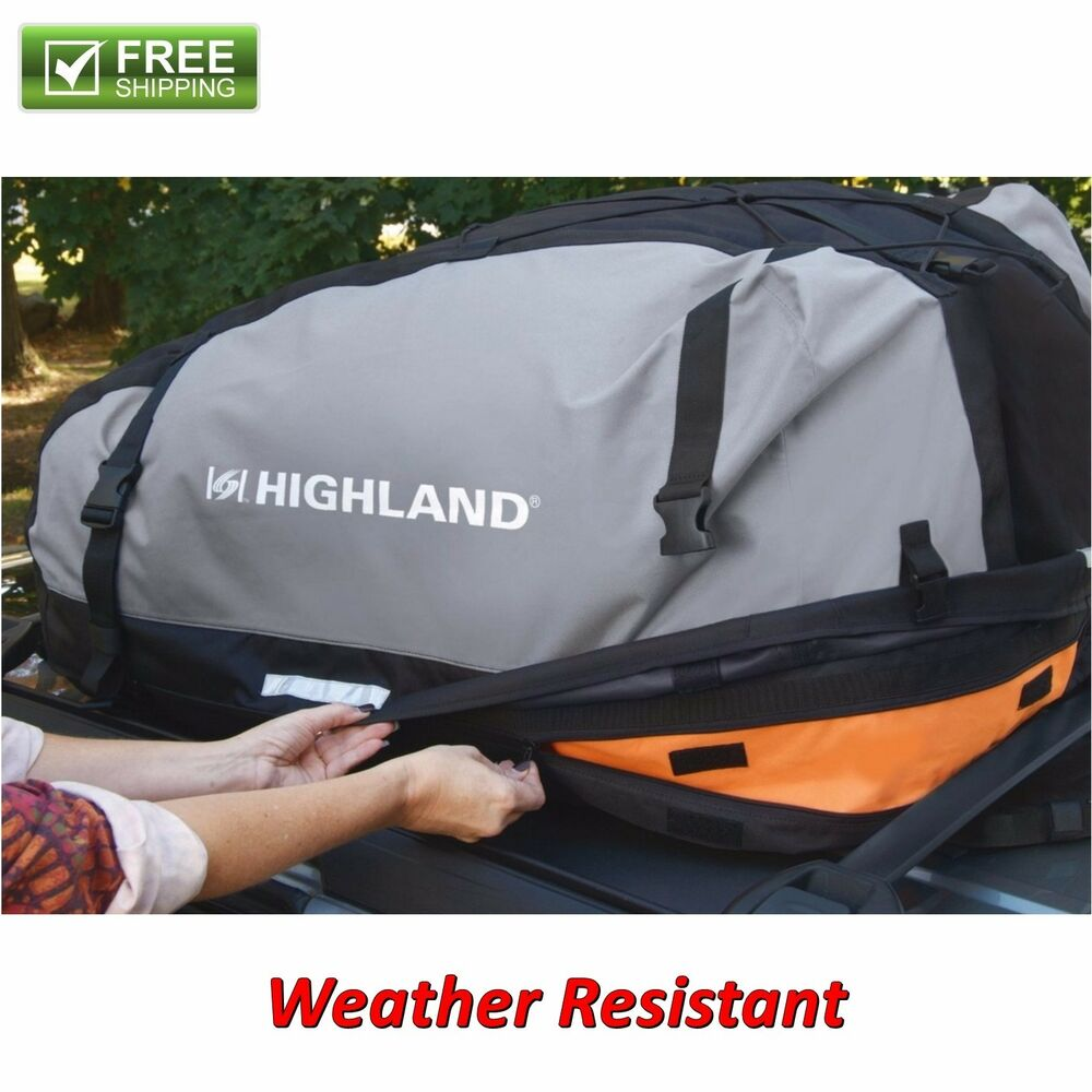 Car Rooftop Cargo Bag Weather Proof Luggage Carrier Travel
