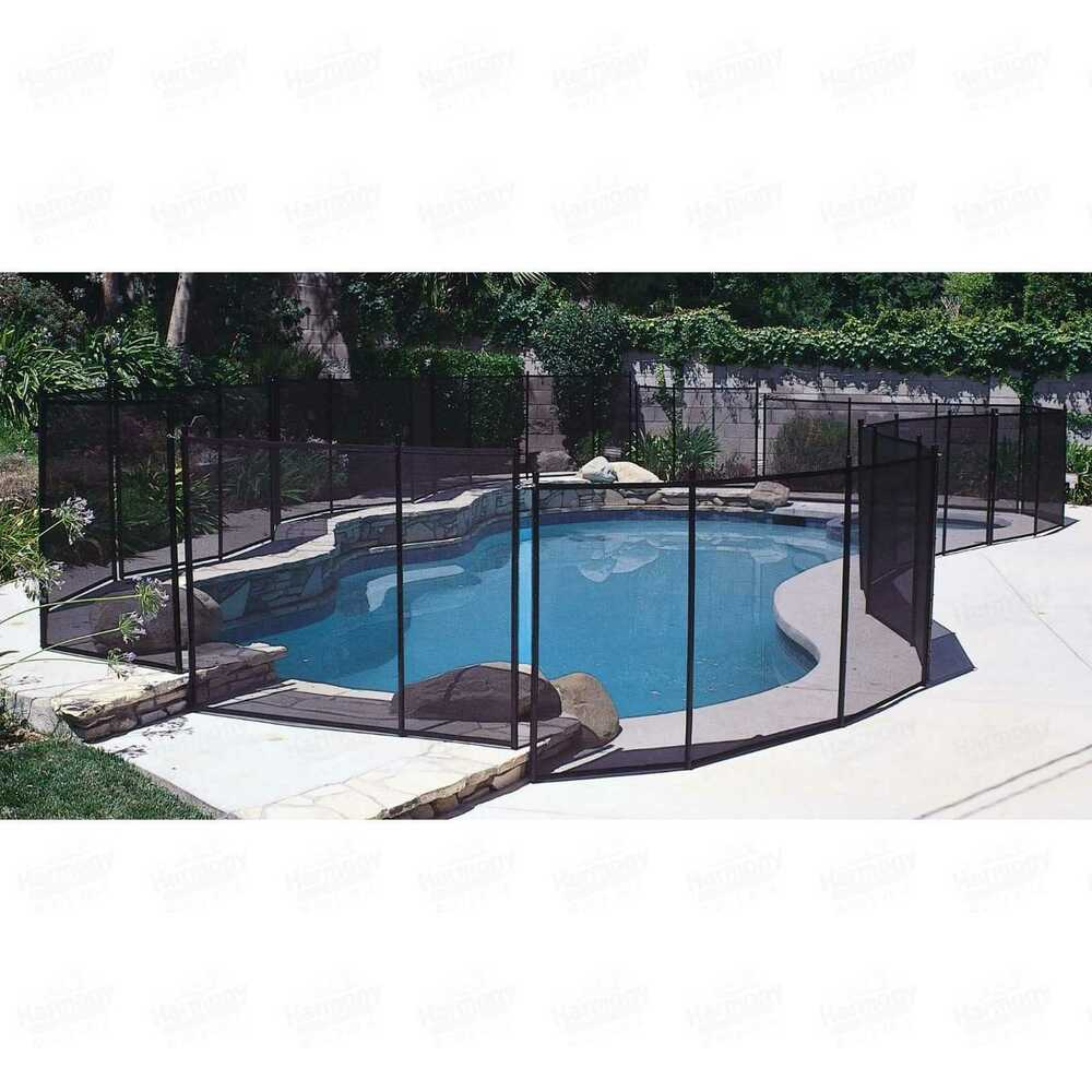 Pool safety fence in ground 12 foot wide for swimming for 12 ft garden pool