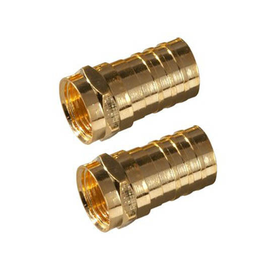 eagle rg59 f type coax connector coax cable gold 10 pack. Black Bedroom Furniture Sets. Home Design Ideas