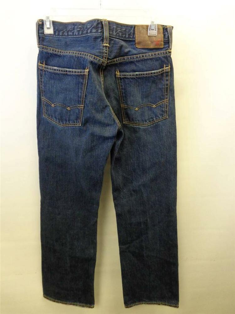 mens AMERICAN EAGLE AE Bootcut blue jeans distressed ...