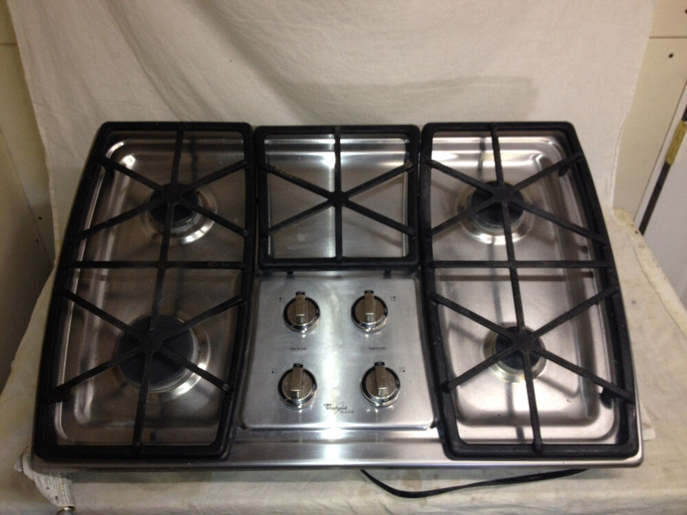 Whirlpool 30 Inch Natural Gas Stove Top Used Ebay