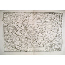 1780 Genuine Antique map Iran & Middle East by Bonne