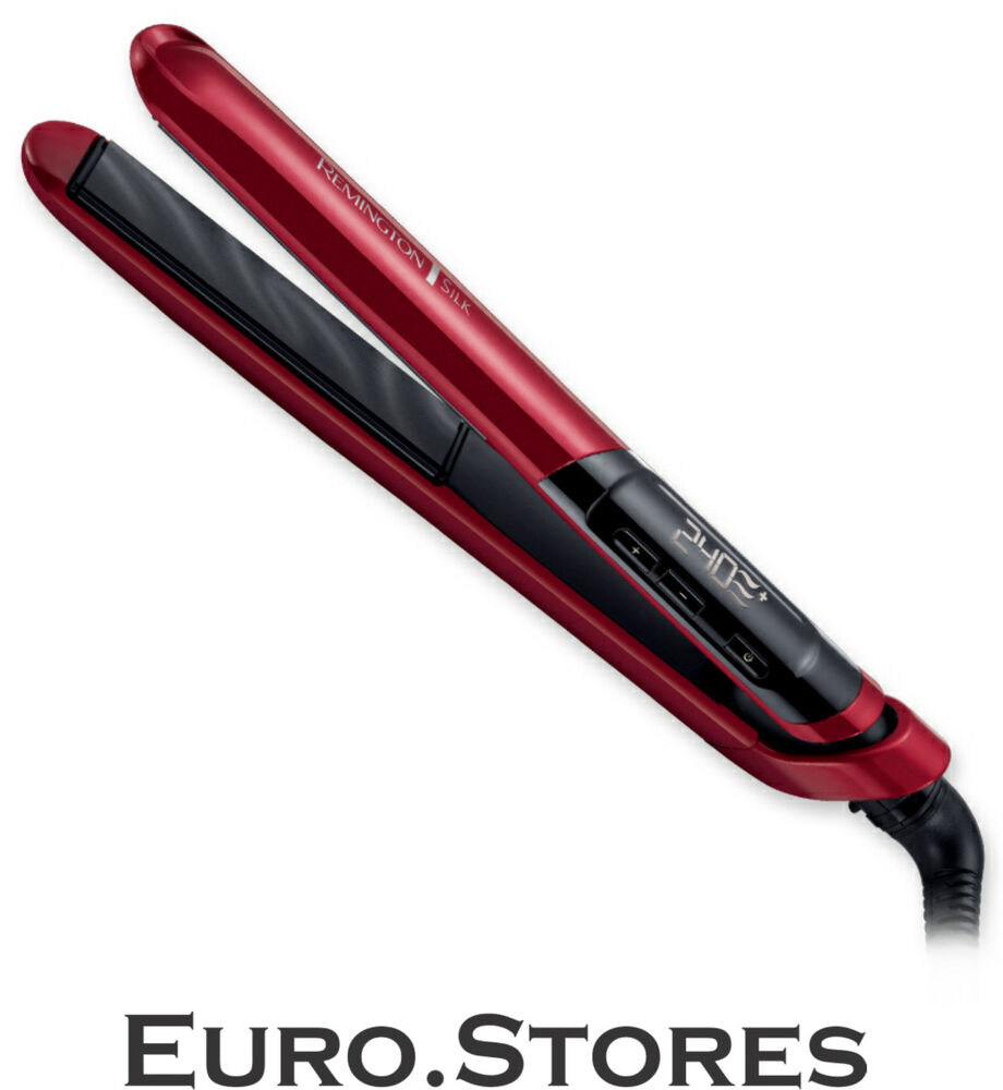 Remington S9600 Silk Hair Straightener Red Dual Voltage