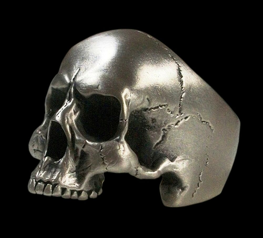 sterling silver anatomical keith richards skull ring 40 gr