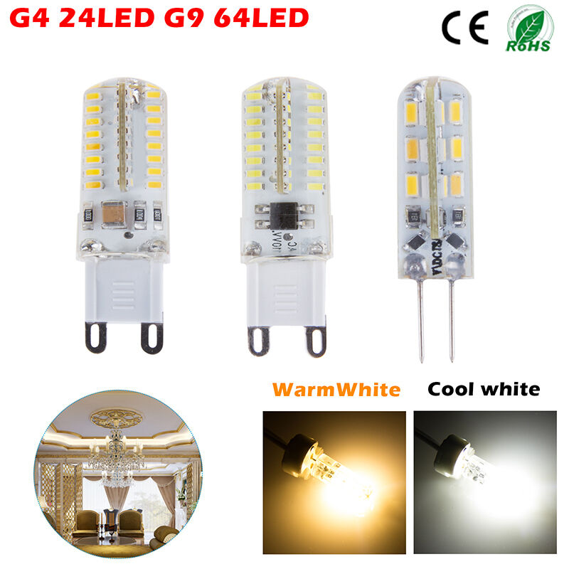 g4 g9 led spot light bulb lamp 3w 5w 24 64smd 3014 warm cool white 110 220v lot ebay. Black Bedroom Furniture Sets. Home Design Ideas