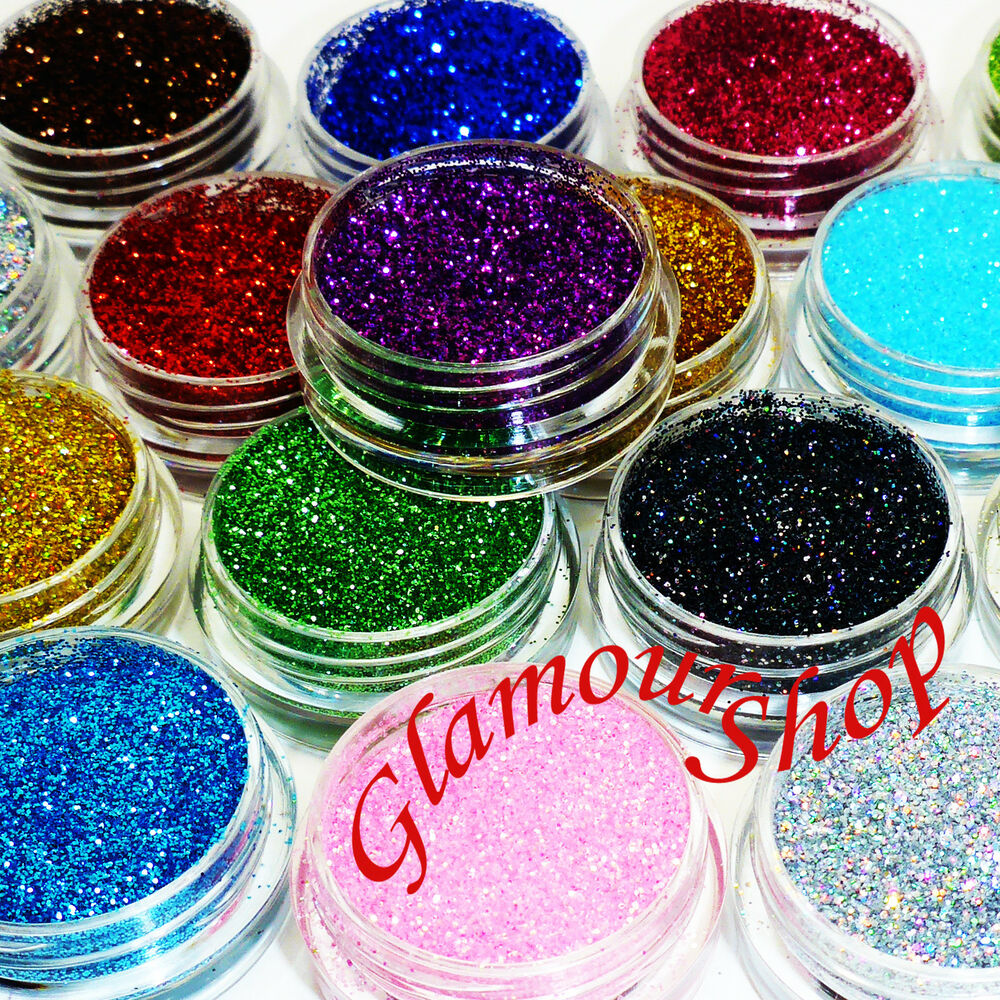 Glitter Glue And Paint Color Inspiration: Loose GLITTER Eyeshadow Face Body Painting Craft Nail Art