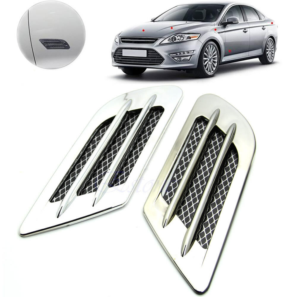 Car Side Air Flow Vent Fender Hole Cover Intake Grille Duct Decoration Sticker Ebay