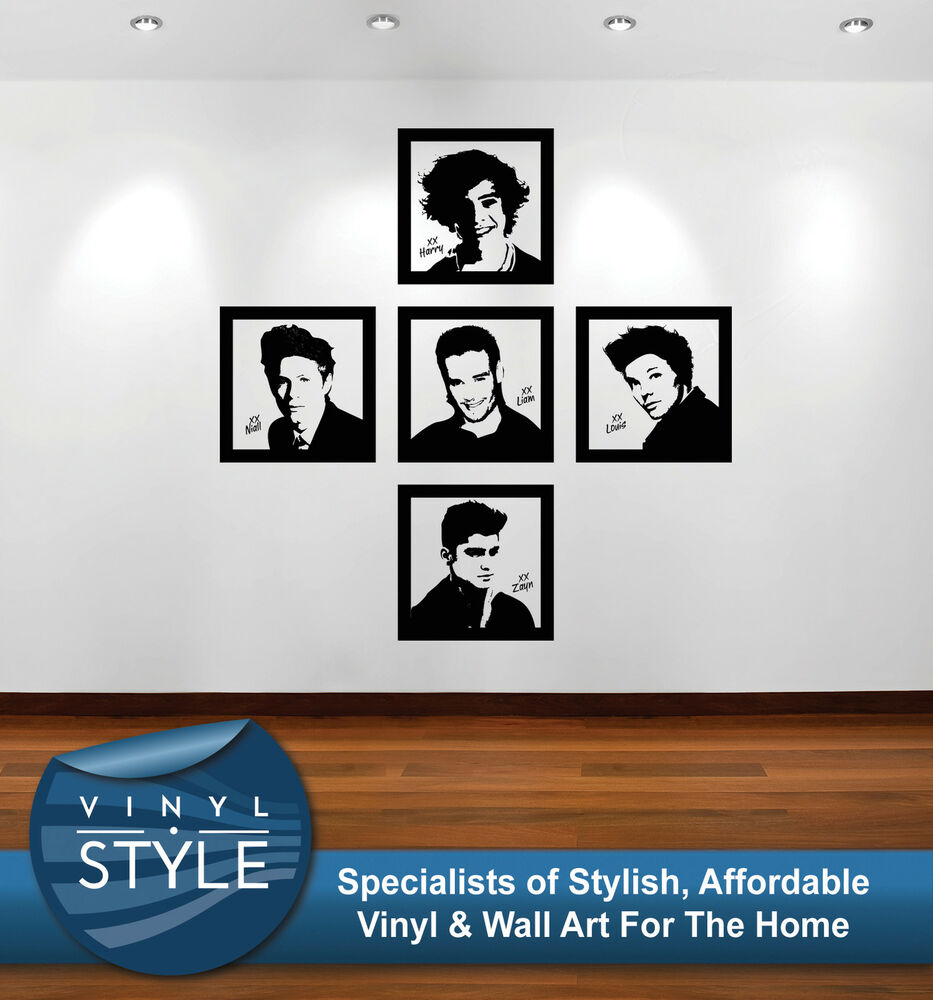 one direction group 003 wall sticker wall art decal quote vinyl various colour ebay. Black Bedroom Furniture Sets. Home Design Ideas