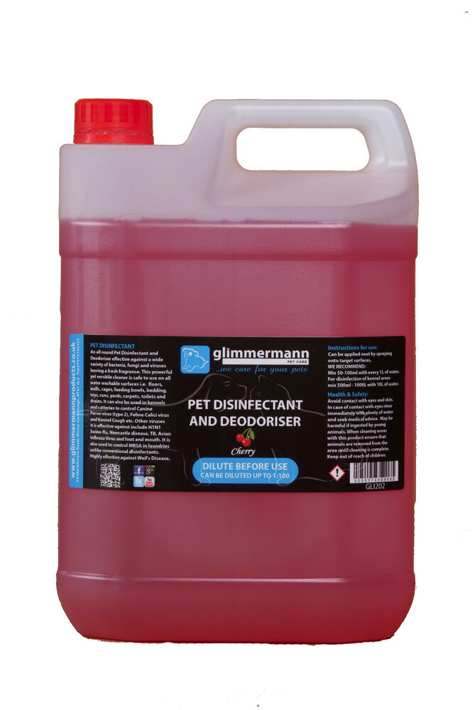 Glimmermann Pet Kennel Disinfectant And Deodoriser Cleaner