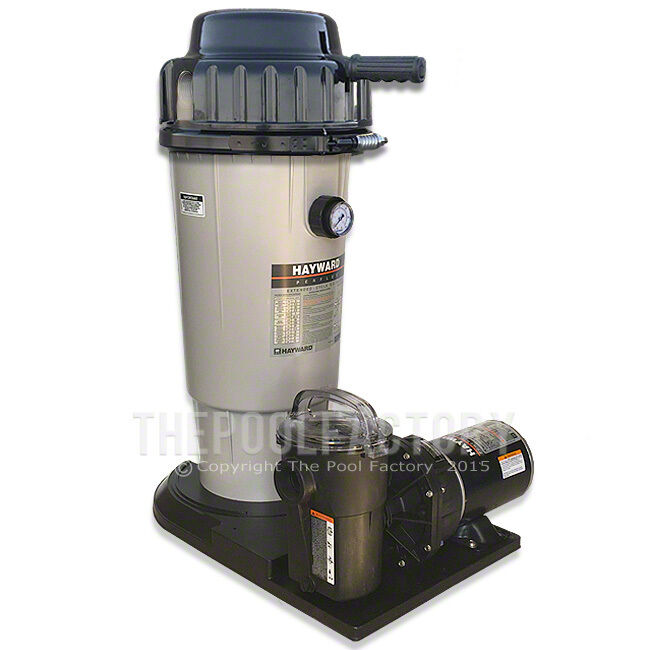 Hayward ec 50 perflex d e above ground swimming pool filter system 1 5hp pump ebay for Swimming pool filters and pumps