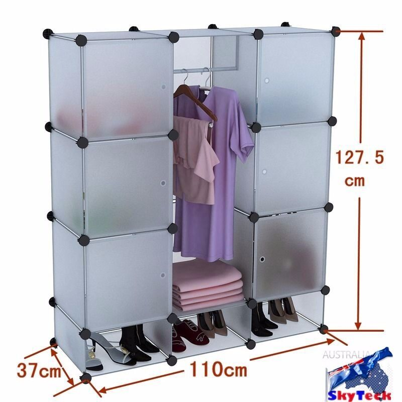 4 layers pp shelves closet storage organizer space saver clothes shoe rack sc12a ebay - Clothes storage for small spaces model ...