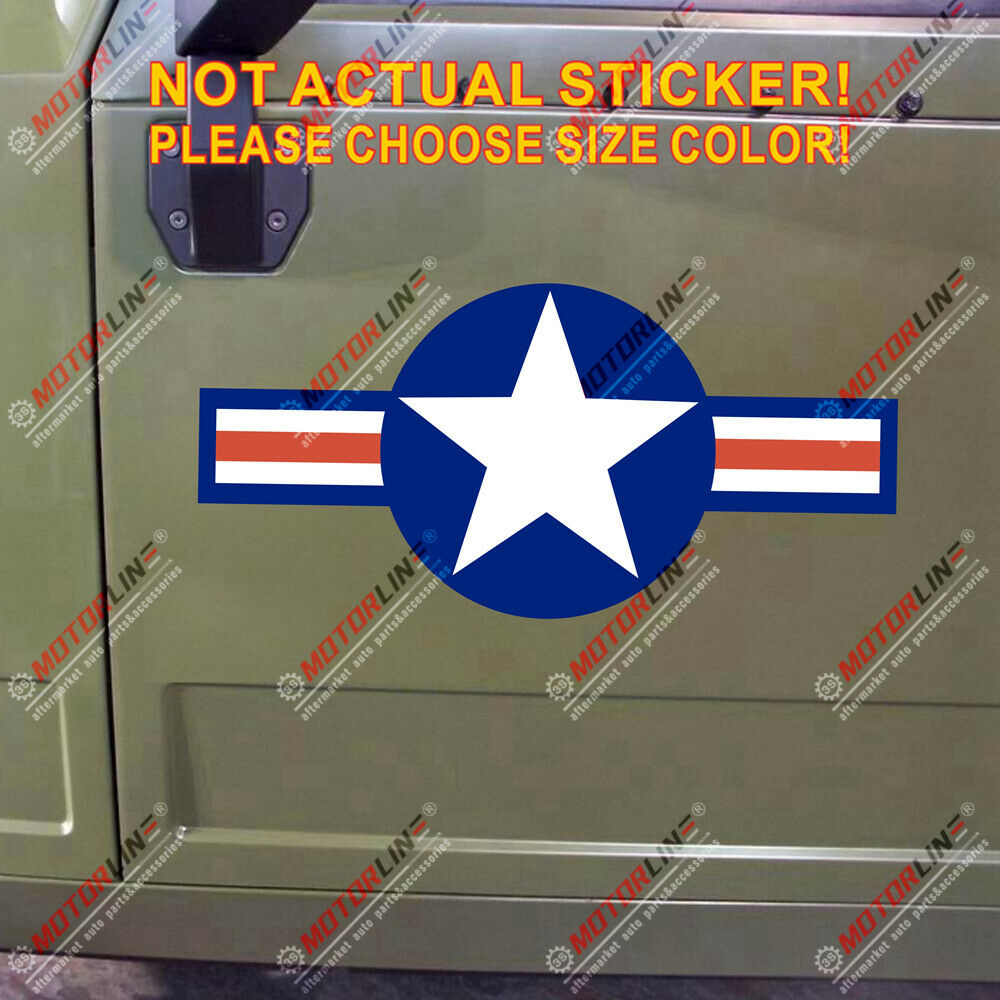 Usaf United States Air Force Roundel Car Decal Sticker