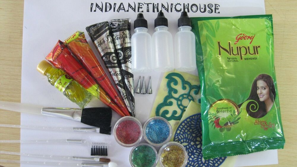 Henna Tattoo Kits For Kids: The Complete Henna Kit For Body Tattoo -Kids Party