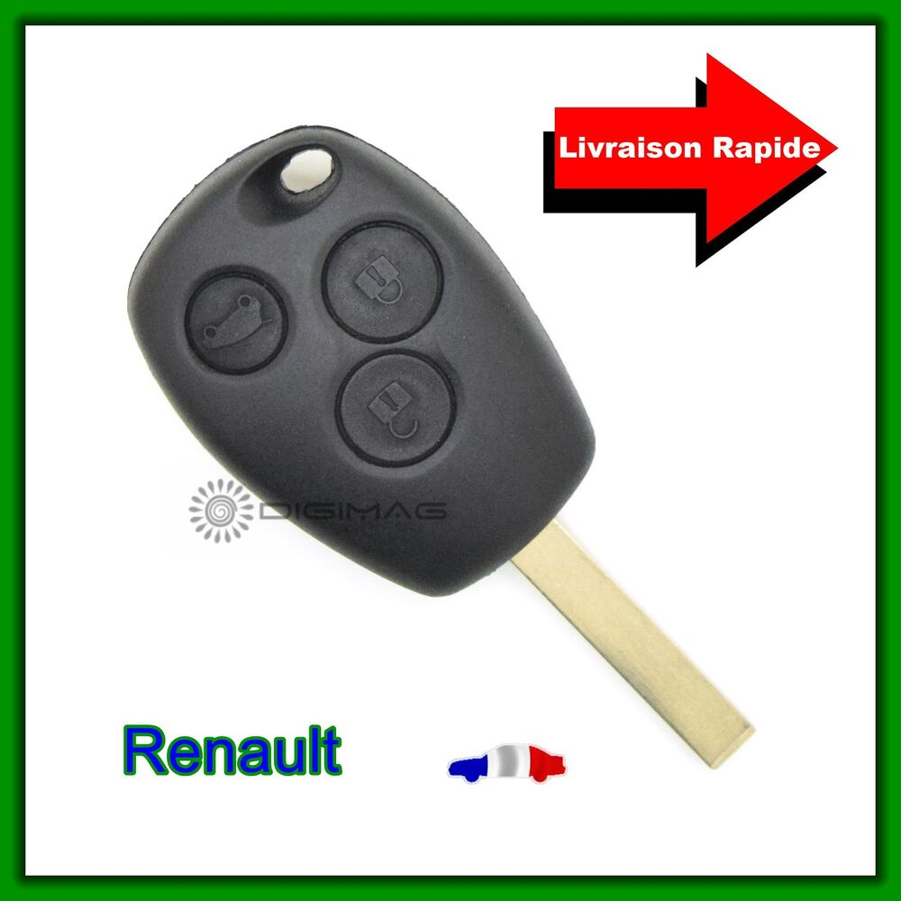 coque t l commande plip cl renault 3 boutons clio modus twingo kangoo cl ebay. Black Bedroom Furniture Sets. Home Design Ideas