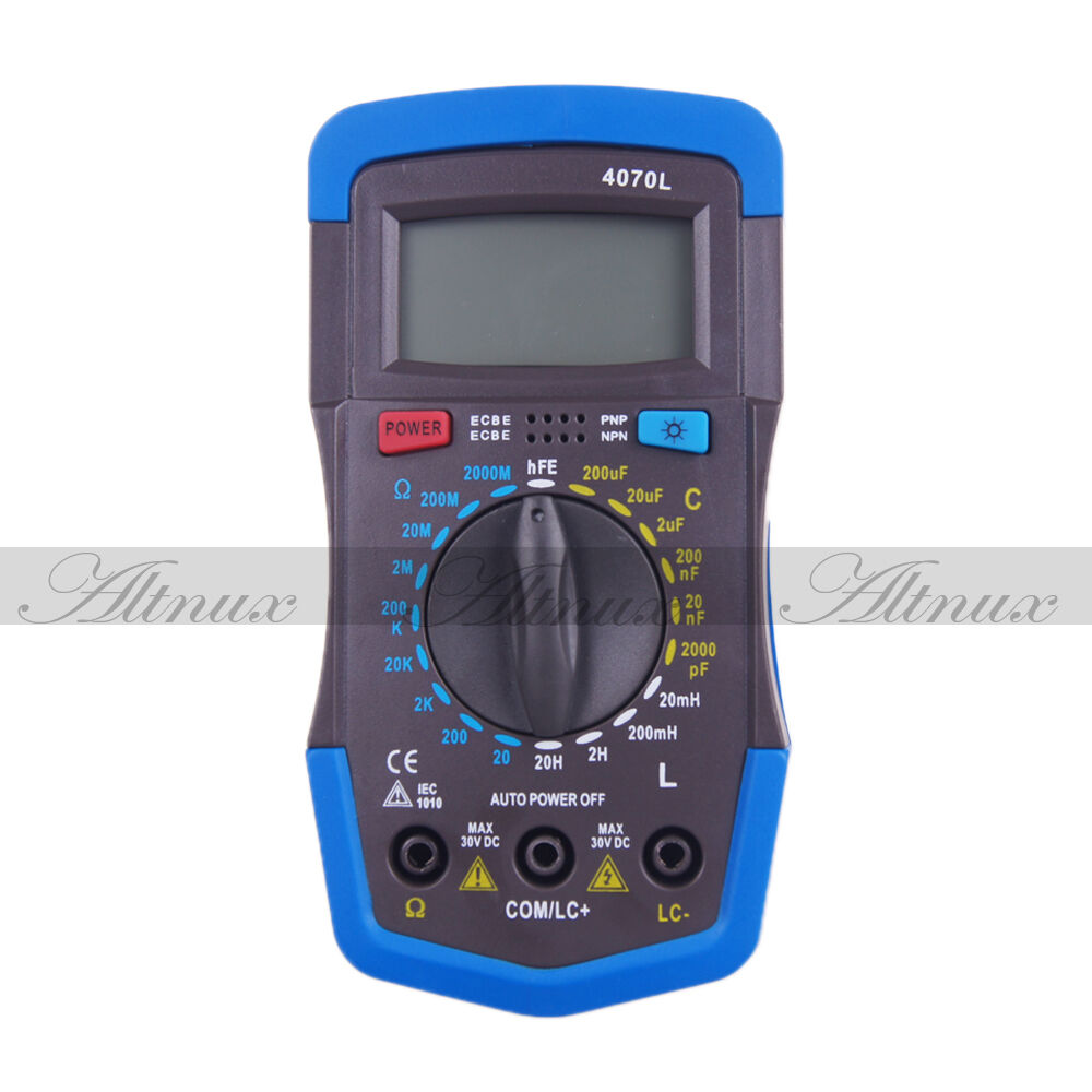 Lcr Meter Resistance : Portable lcd digital lcr rcl inductance capacitance