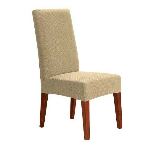 sure fit stretch honeycomb short dining chair slipcover ebay