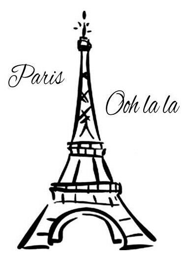 Eiffel tower paris france ooh la la vinyl wall mural decor decal sticker large ebay