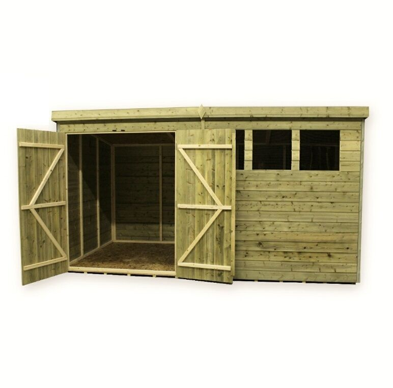 Wooden garden shed 10x4 12x4 14x4 pressure treated tongue for 12x8 shed with side door