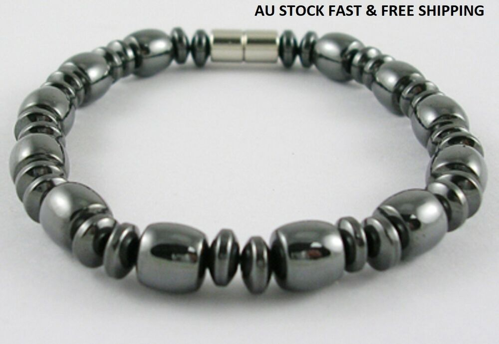 Black Magnetic Hematite Bracelet for Arthritic Pain and ...