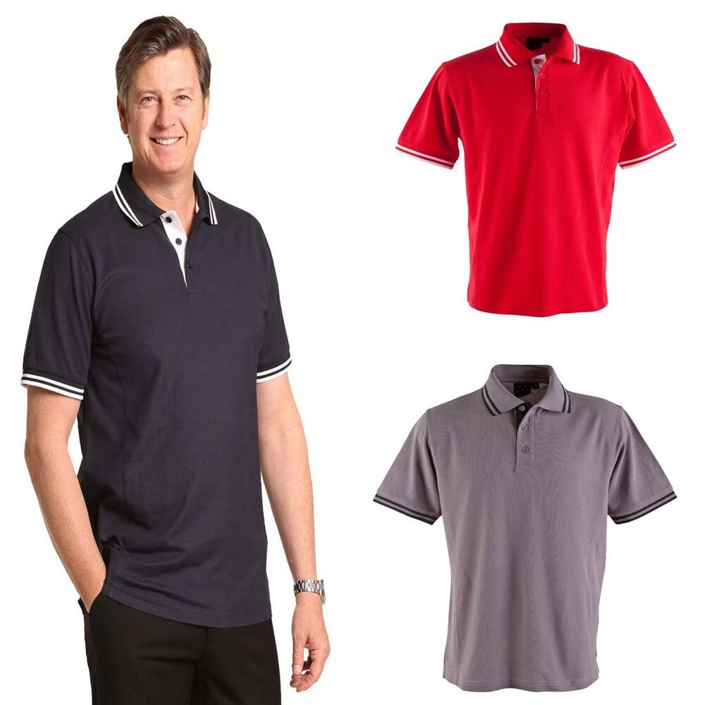 New mens grace polo classic tshirt shirt casual work dress for Mens work polo shirts
