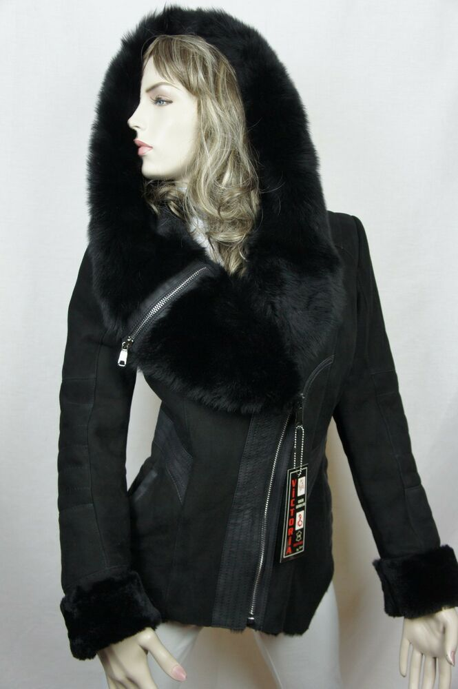 NEW 100% Real Shearling Suede Leather Sheepskin Toscana ...